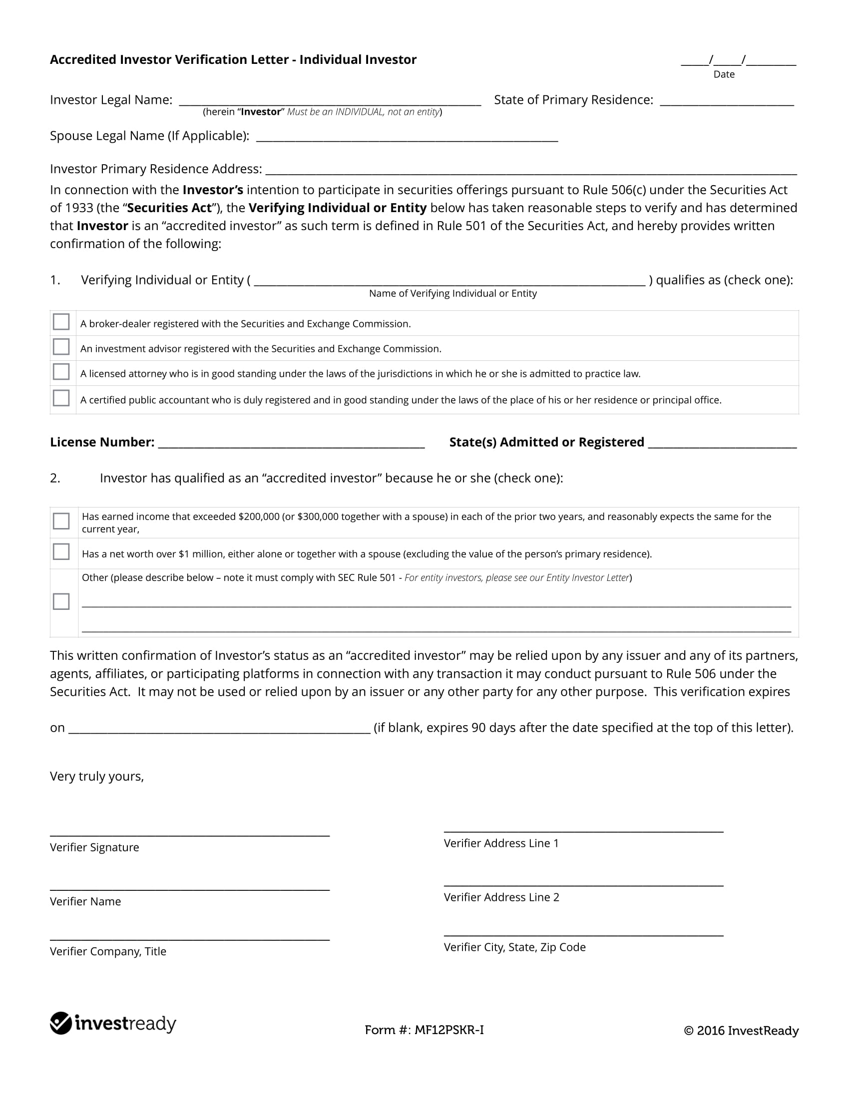 21 Letter Of Verification Examples Pdf