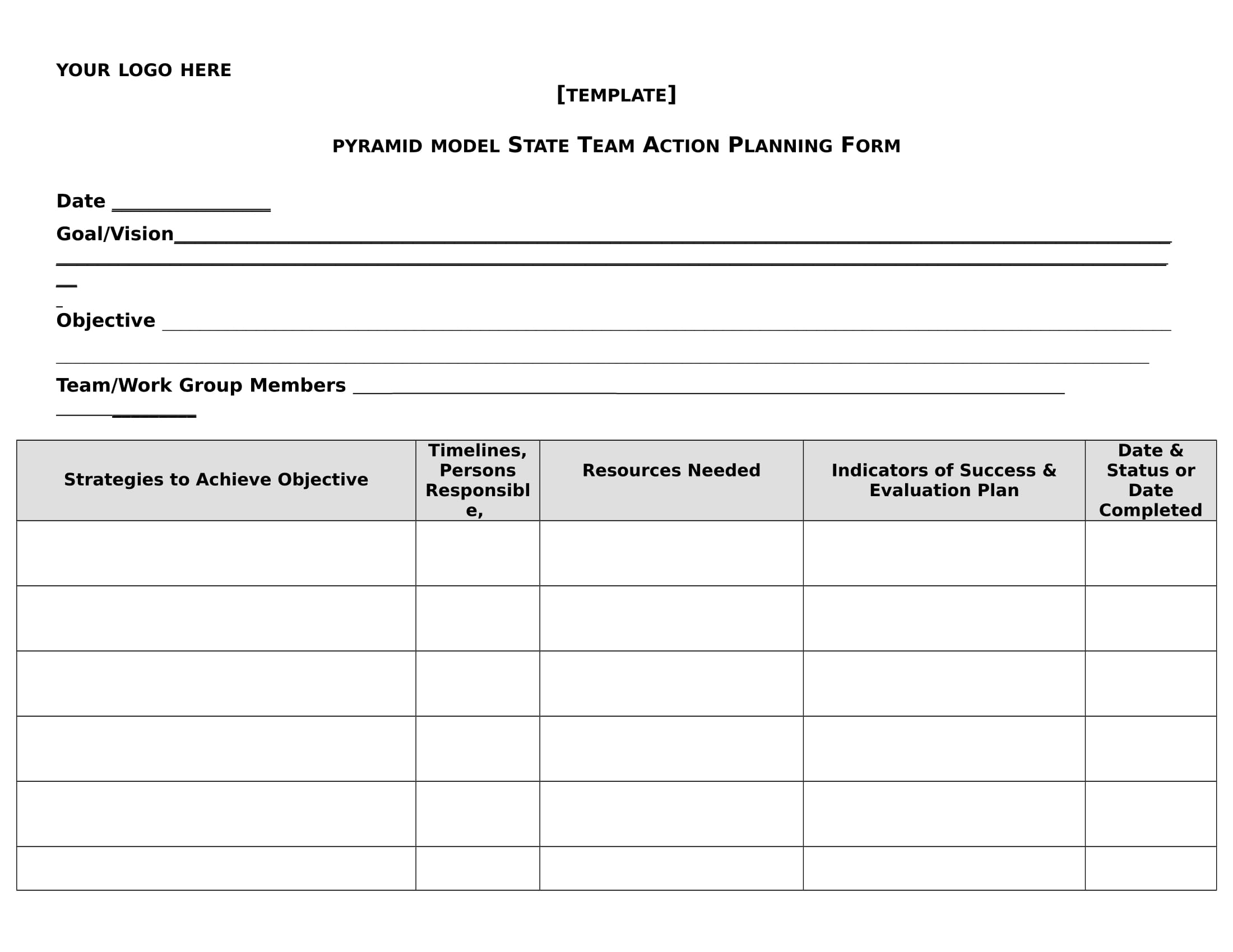 action plan form template example 1