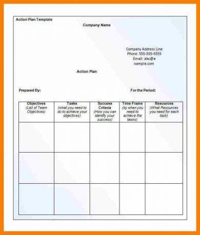 action plan printable template1