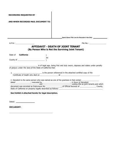 affidavit of death for joint tenant1