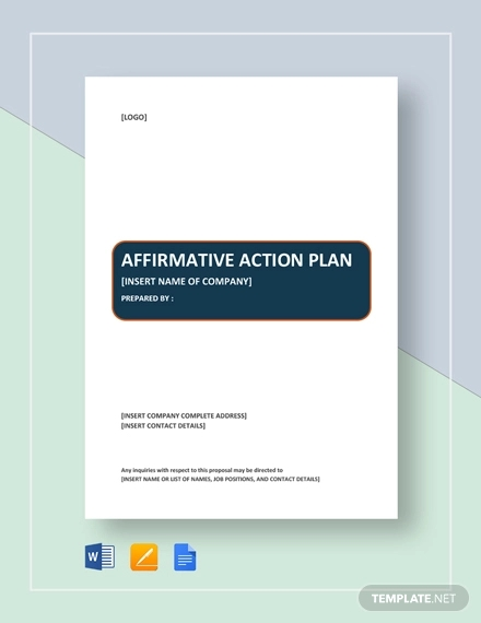 affirmative action plan example1