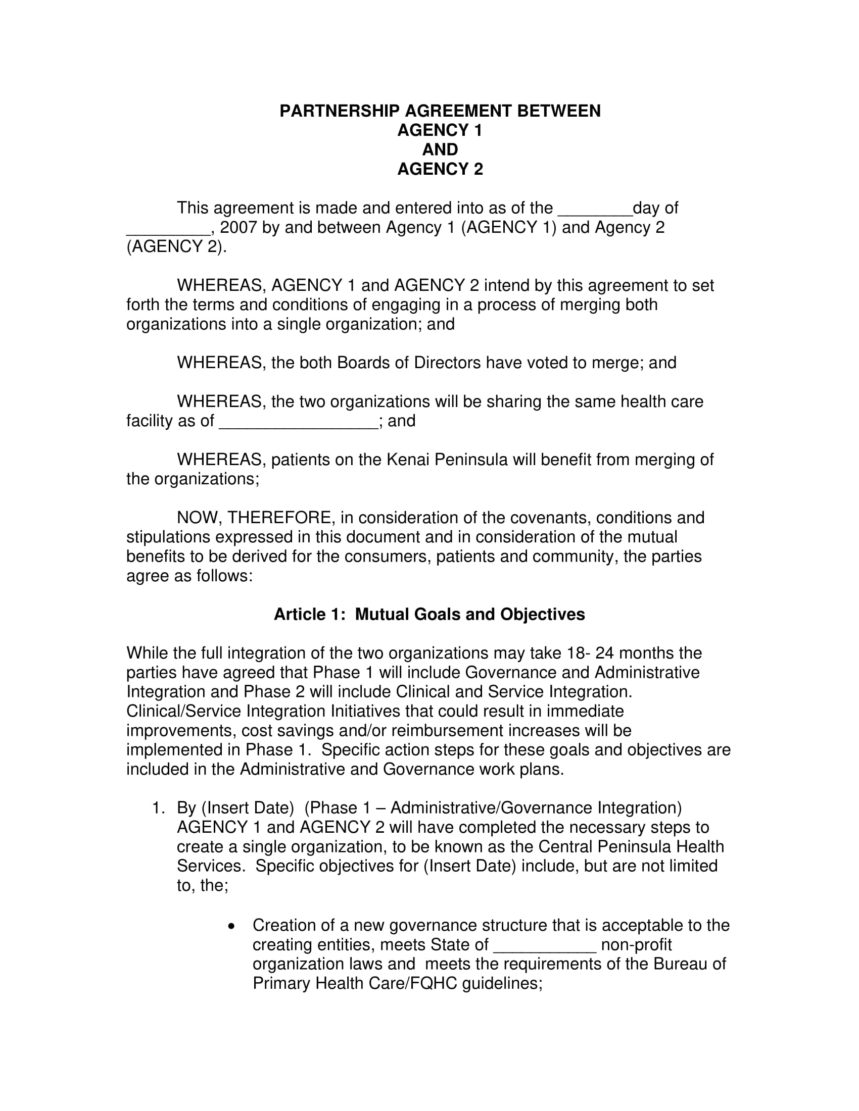 agency partnership agreement example2