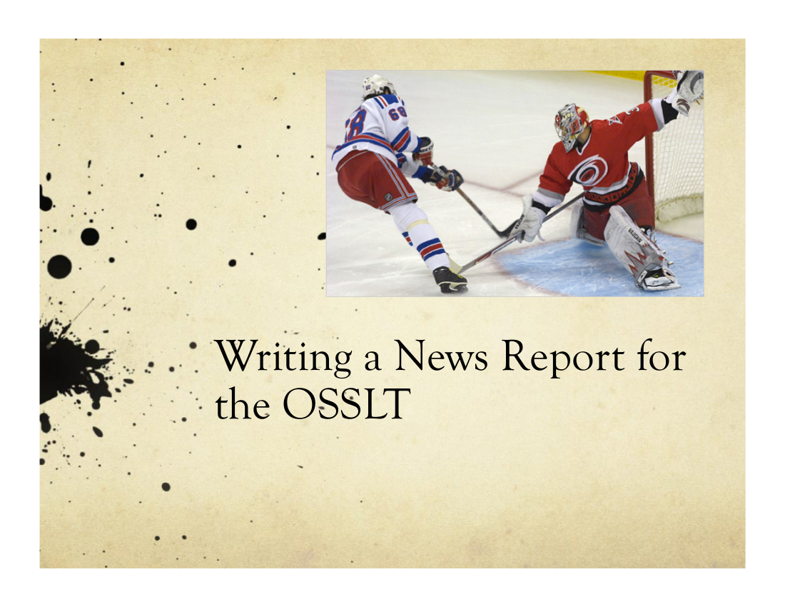 all about news report writing
