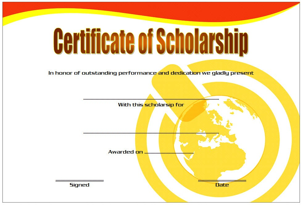 amazing scholarship award certificate example