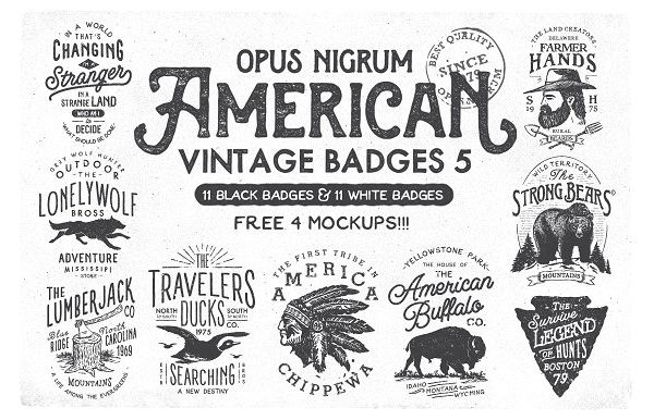 american vintage labels examples1