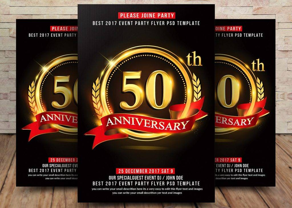 anniversary announcement celebration flyer example 1024x731