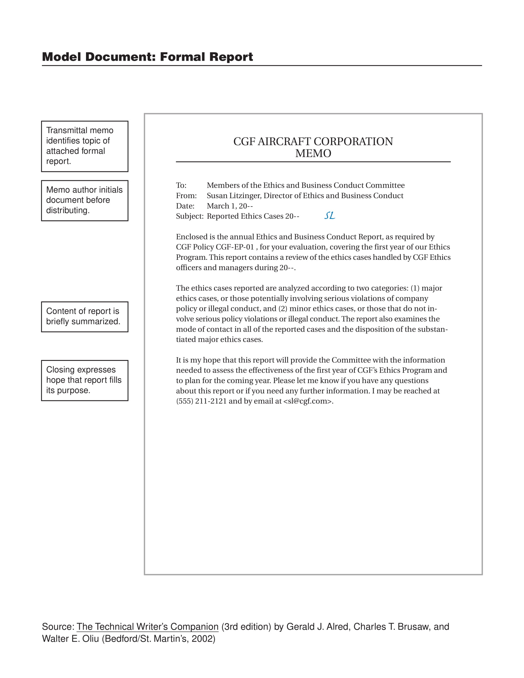 annual ethics and business conduct report example 01