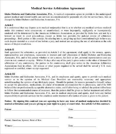 arbitration agreement example1