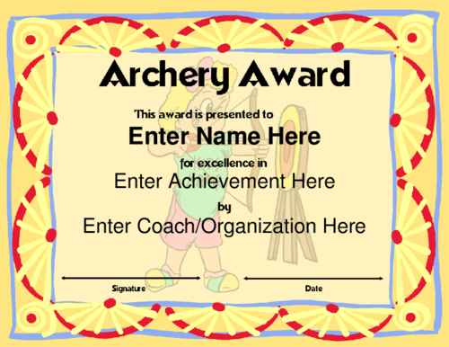 23 sports award certificate examples pdf word archery award certificate maxwellsz