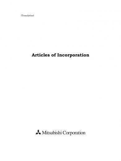 articles of incorporation example 1