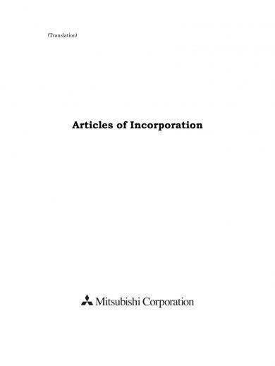 articles of incorporation example