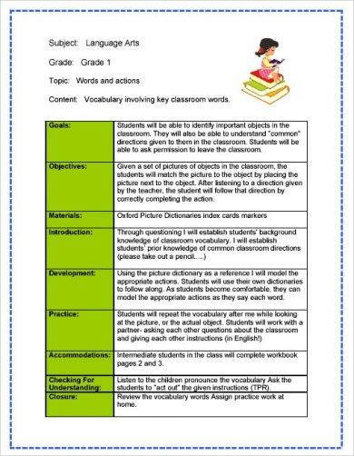 arts teacher action plan example1