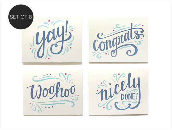 assorted congratulatory note cards example1