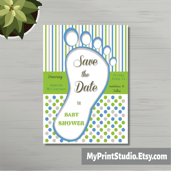 baby boy save the date example