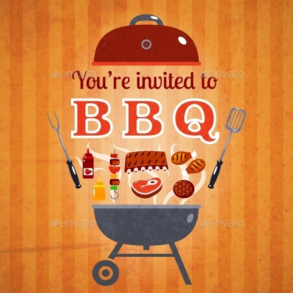 barbecue announcement and invitation advertisement poster example