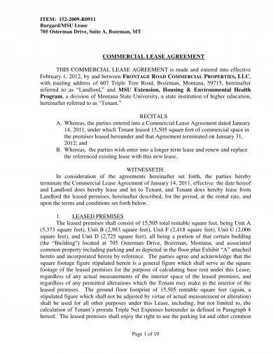 14 Commercial Lease Agreement Examples Pdf