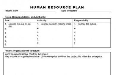 basic human resource strategy plan example1