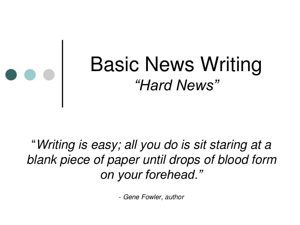 basic news report writing