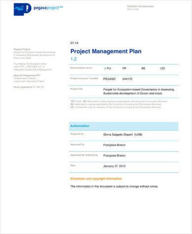 basic project management plan example