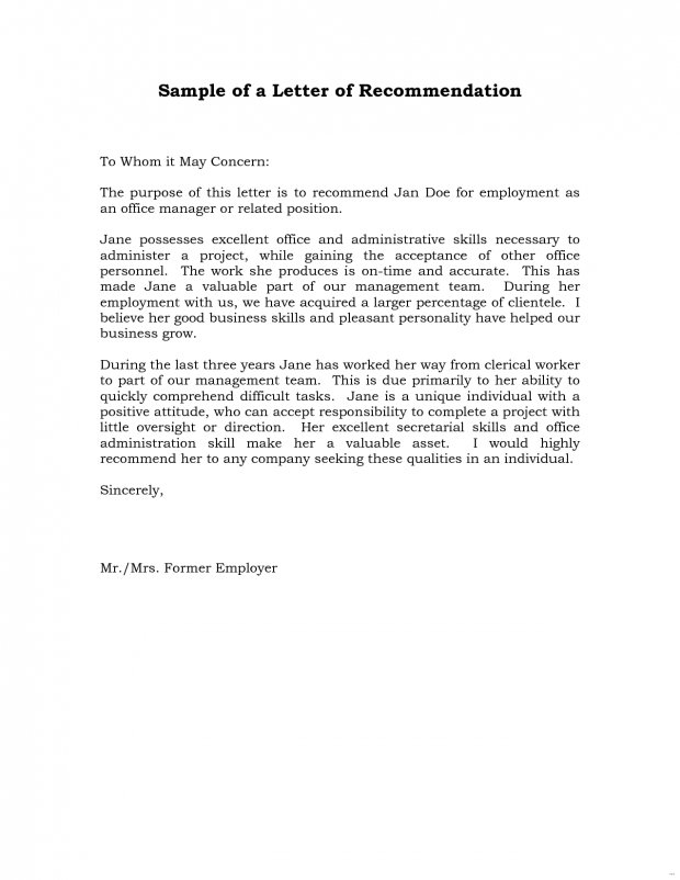 9  reference letter for employment examples