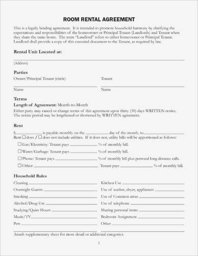 basic rental letter agreement example1