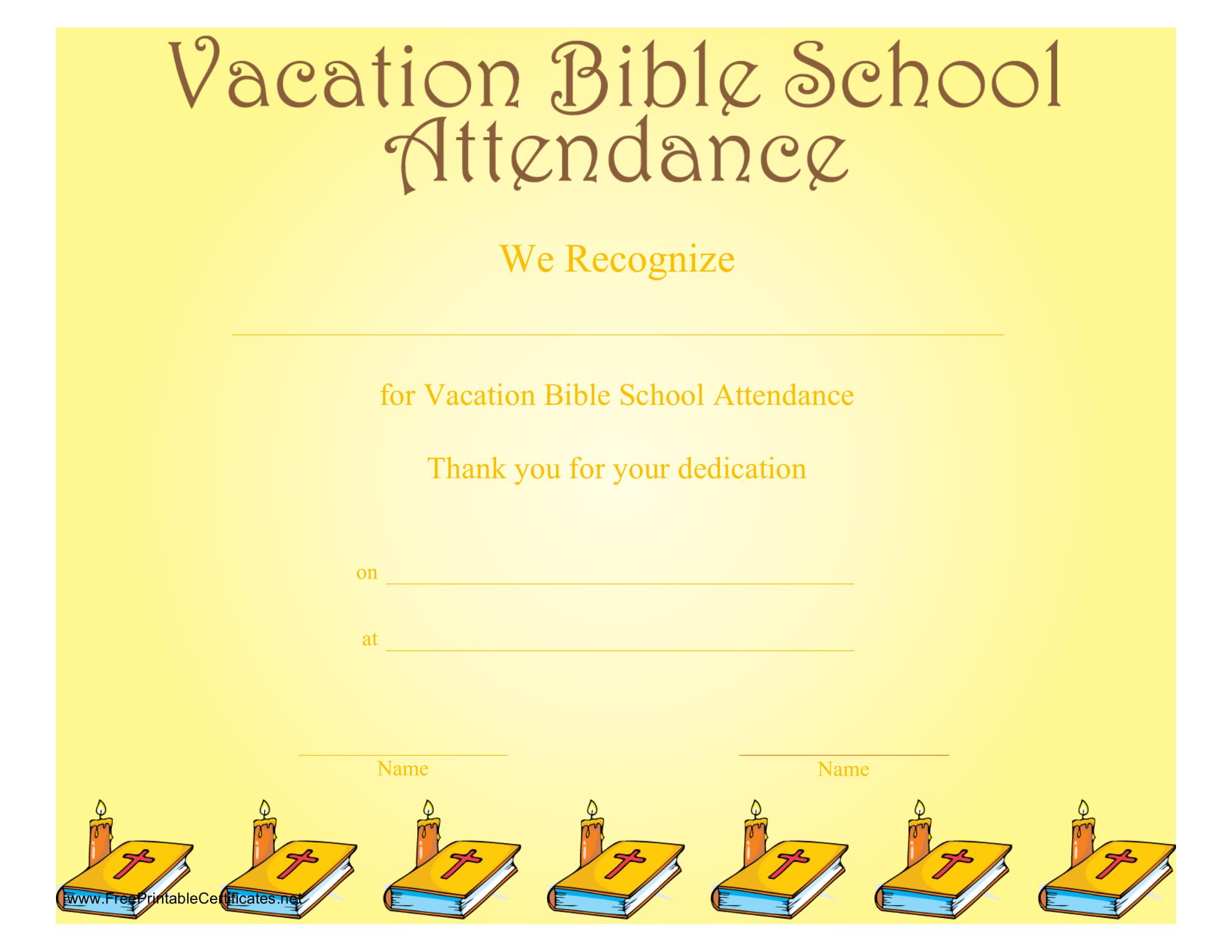bible school blank award certificate example
