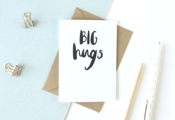 big hugs sympathy greeting card example1