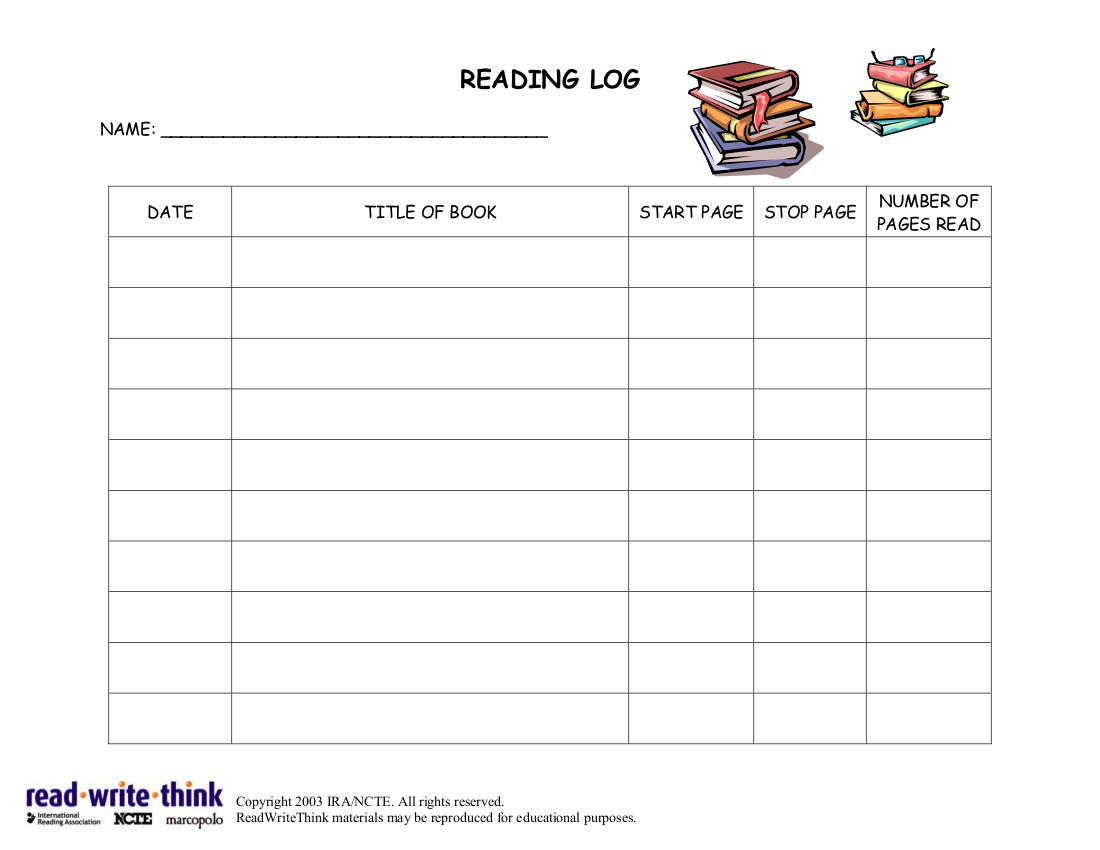 photo relating to Weekly Reading Log Printable named 29+ Printable Reading through Log Illustrations in just PDF Illustrations