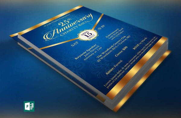blue anniversary announcement flyer example1