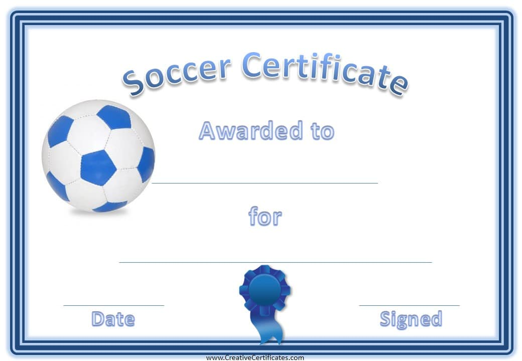 10 soccer award certificate examples pdf psd for Soccer award certificate templates free
