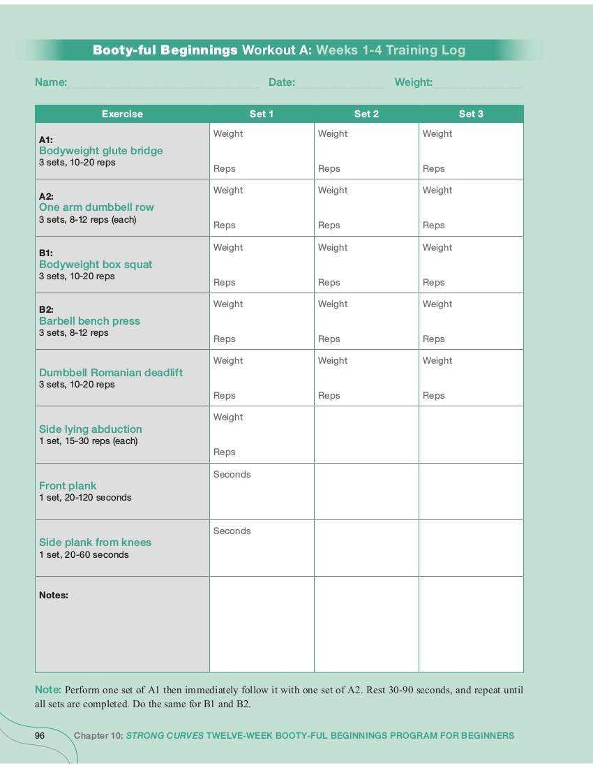 8+ Workout Log Examples - PDF | Examples