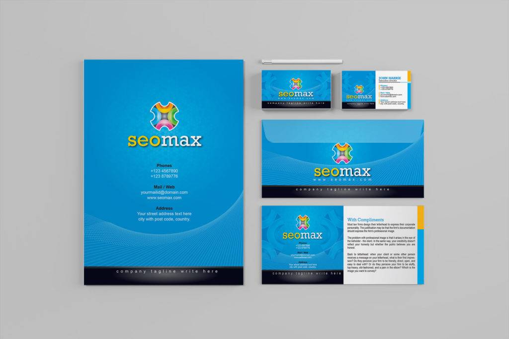 branding identity template company stationery set example