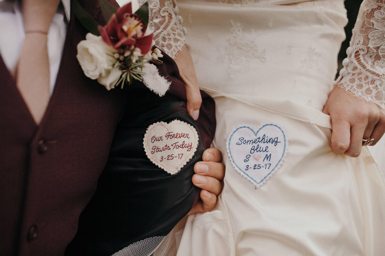 bridal shower gift wedding dress label example