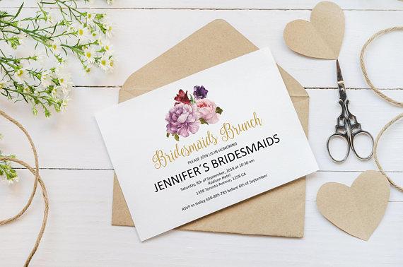 bridesmaids brunch invitation example