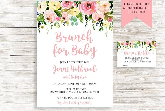 brunch for baby invitation example