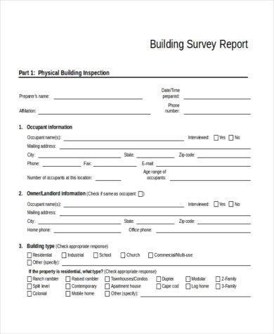 building survey report template1