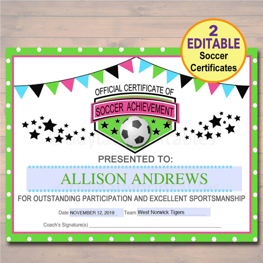 bunting soccer award certificate example 1024x1024