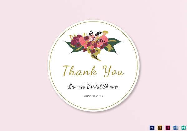 burgundy floral wedding label example2