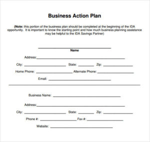 business action plan example3