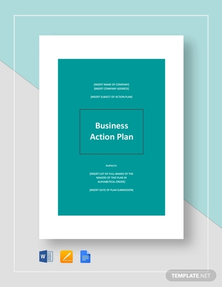 business action plan template2