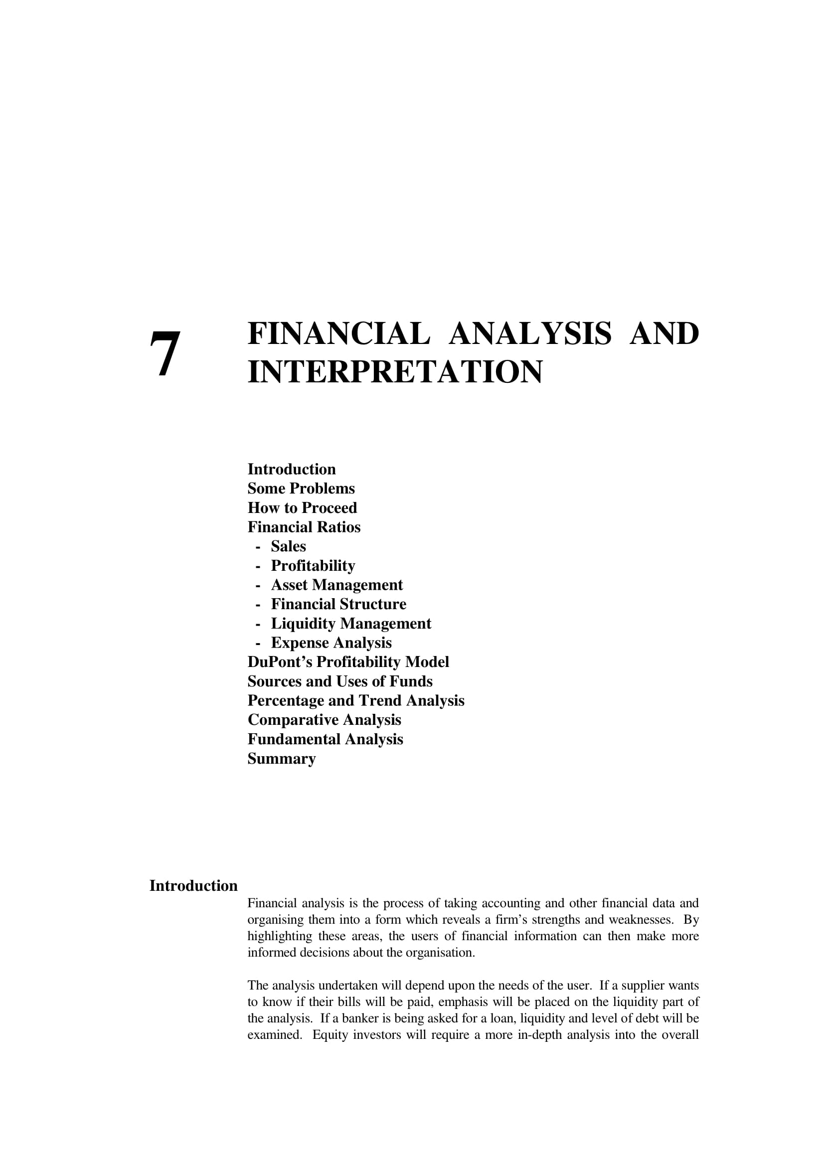 business financial analysis and interpretation example 01