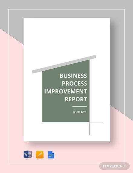 business process improvement report