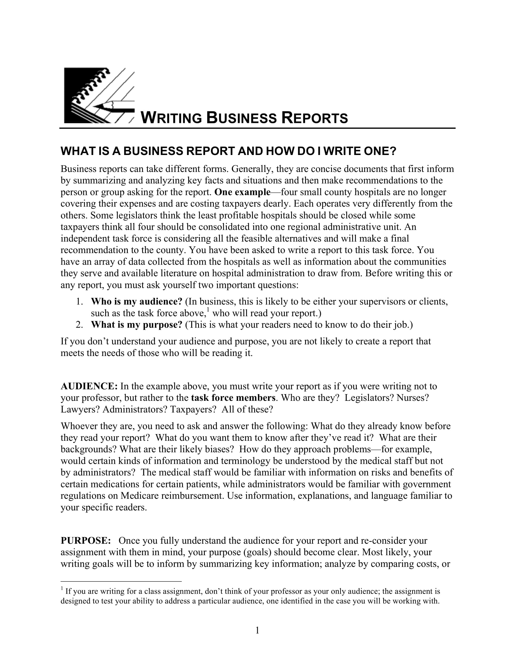 business report guidelines example 1