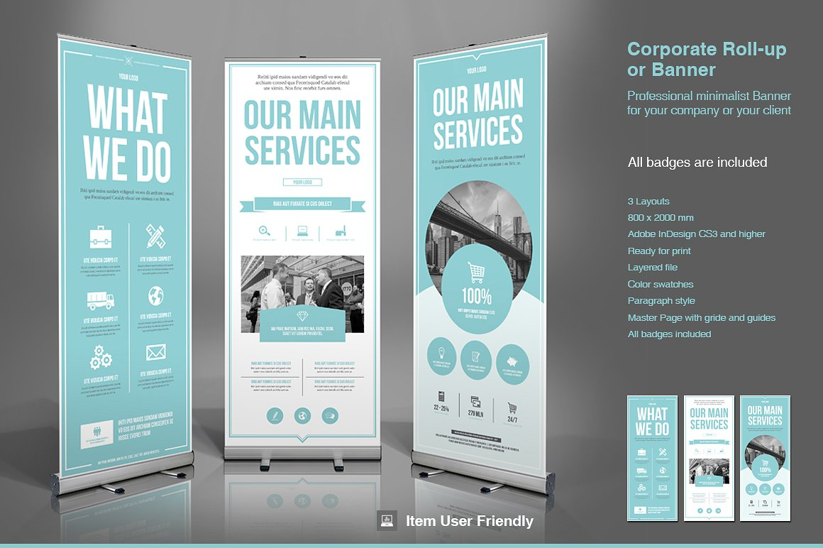 business roll up banner example