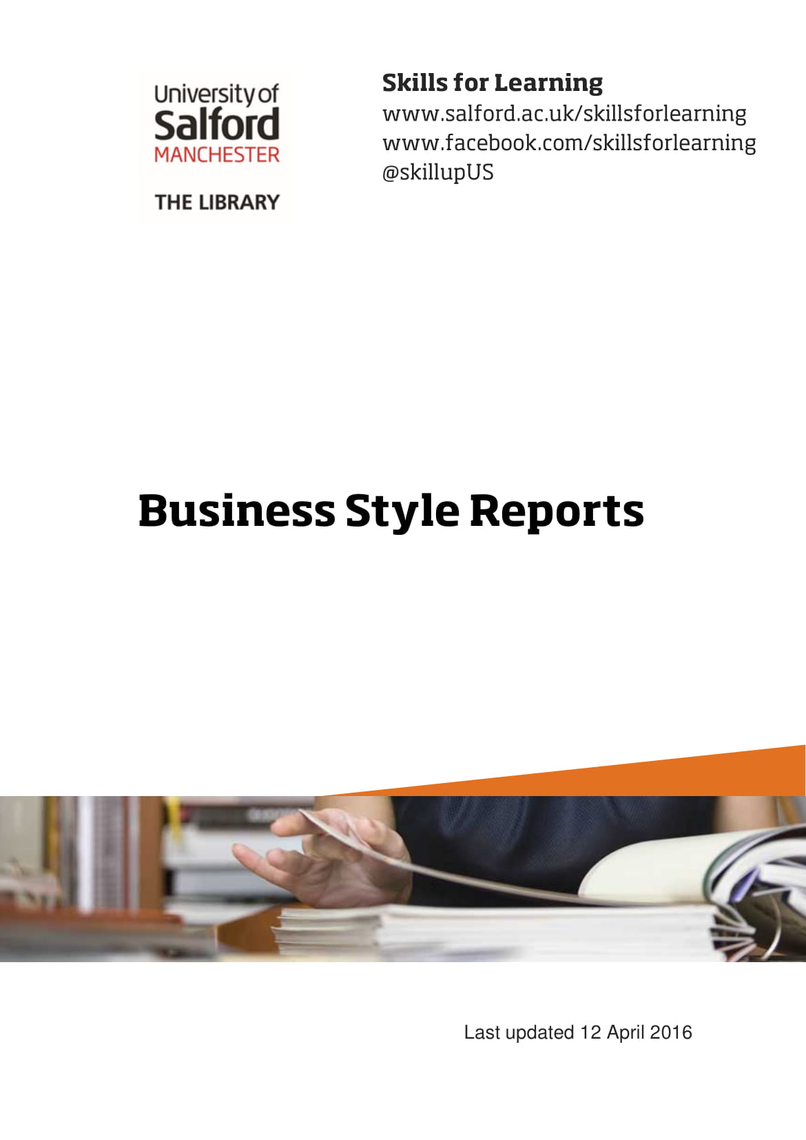 business style report example 1