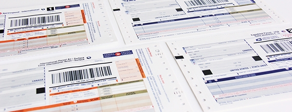 canada post international shipping labels example