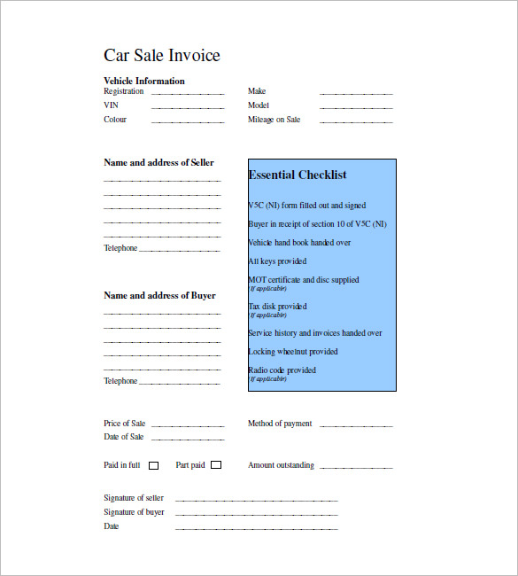 13+ Sales Invoice Examples - PDF, Word