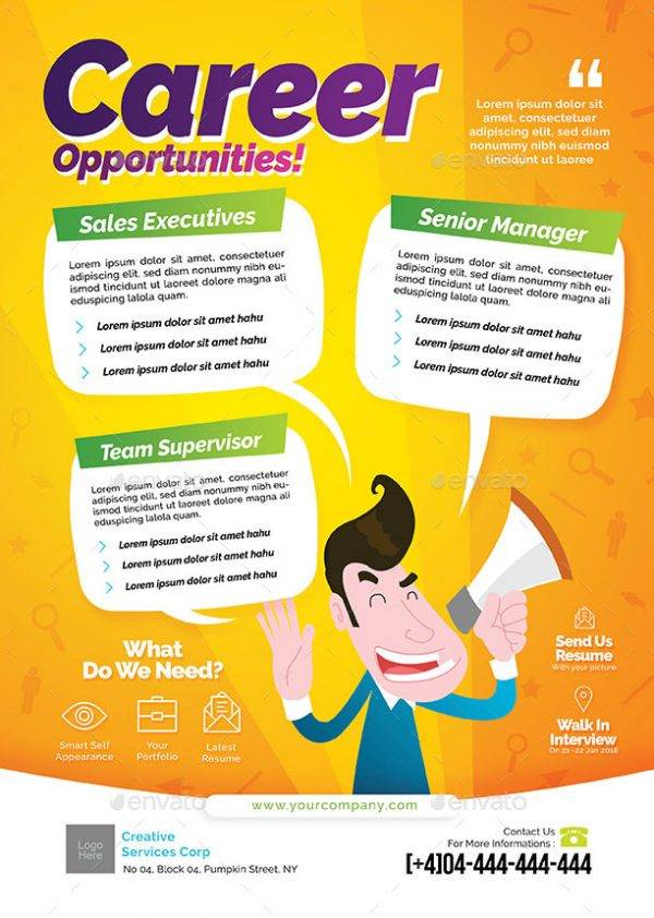 career opportunities job announcement example1