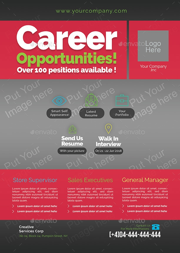 career opportunity job announcement example
