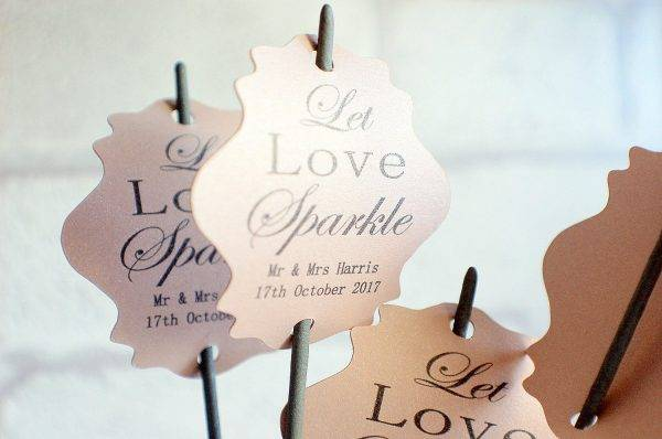 celebration wedding label example1